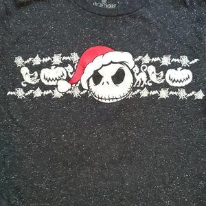Disney Jack Skellington in Santa hat shirt